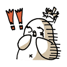 Eggplant penguin sticker #4243444