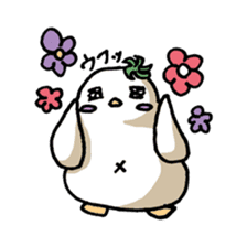 Eggplant penguin sticker #4243445