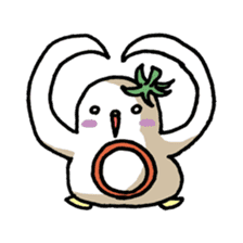 Eggplant penguin sticker #4243452