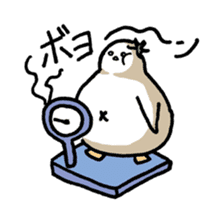 Eggplant penguin sticker #4243457
