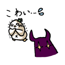 Eggplant penguin sticker #4243460