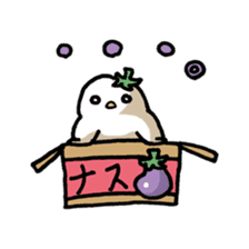 Eggplant penguin sticker #4243463