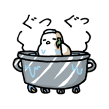 Eggplant penguin sticker #4243464