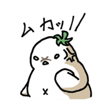 Eggplant penguin sticker #4243468