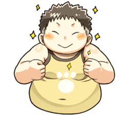Daily Lives of Chubby Boy sticker #4248240