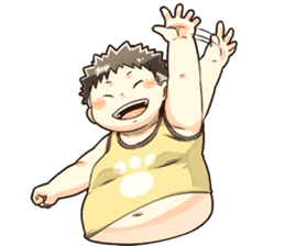 Daily Lives of Chubby Boy sticker #4248247