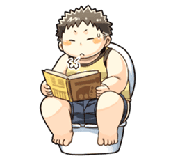 Daily Lives of Chubby Boy sticker #4248260
