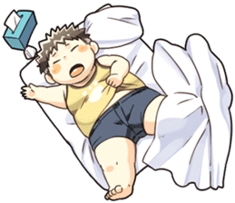 Daily Lives of Chubby Boy sticker #4248266