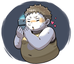 Daily Lives of Chubby Boy sticker #4248267