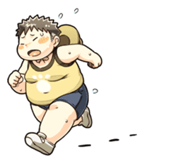 Daily Lives of Chubby Boy sticker #4248272