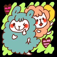 Yuruyuru Graffiti alpaca,sheep