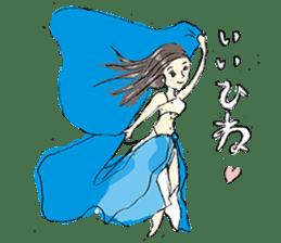 Belly Dance sisters sticker #4259367