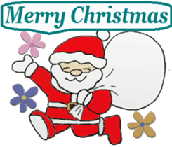 Friends with Santa Claus! sticker #4260320