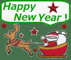 Friends with Santa Claus! sticker #4260321