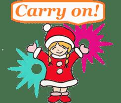 Friends with Santa Claus! sticker #4260324
