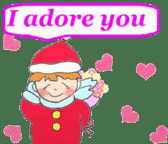 Friends with Santa Claus! sticker #4260330