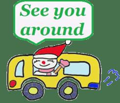 Friends with Santa Claus! sticker #4260352