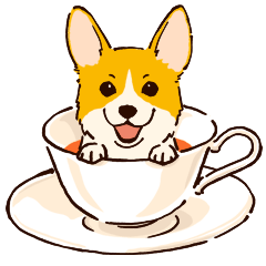 Corgi Tea Time