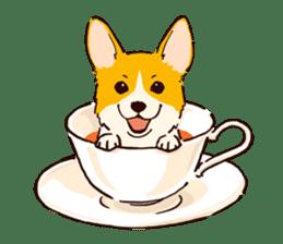 Corgi Tea Time sticker #4261358