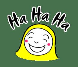 Hijab girl Zukinchan (English) sticker #4269522