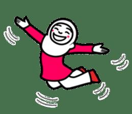 Hijab girl Zukinchan (English) sticker #4269523