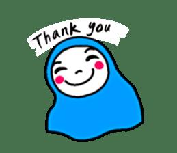 Hijab girl Zukinchan (English) sticker #4269524