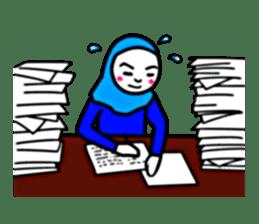 Hijab girl Zukinchan (English) sticker #4269526