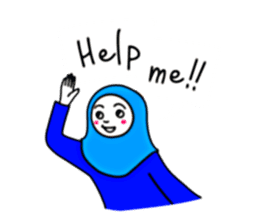Hijab girl Zukinchan (English) sticker #4269536