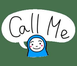 Hijab girl Zukinchan (English) sticker #4269549