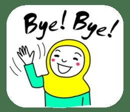 Hijab girl Zukinchan (English) sticker #4269551