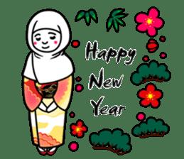 Hijab girl Zukinchan (English) sticker #4269558