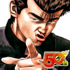 สติ๊กเกอร์ไลน์ rokudenashi-BLUES J50th