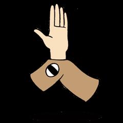 Sticker of Arawi Keiichi