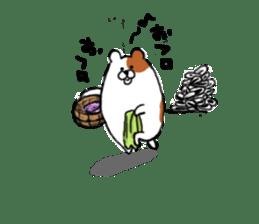 Greedy hamster sticker #4278700