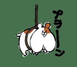 Greedy hamster sticker #4278720