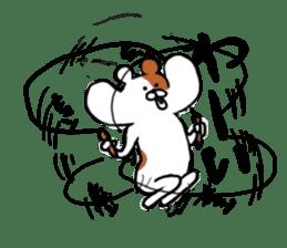 Greedy hamster sticker #4278721