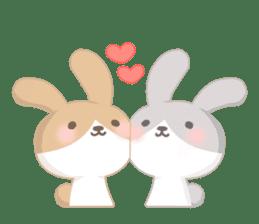 Good friend rabbit. sticker #4281472