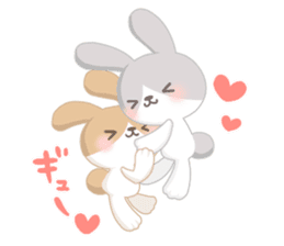 Good friend rabbit. sticker #4281473