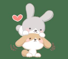 Good friend rabbit. sticker #4281474