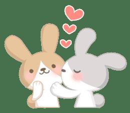Good friend rabbit. sticker #4281475
