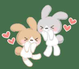 Good friend rabbit. sticker #4281476