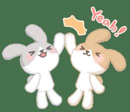 Good friend rabbit. sticker #4281477
