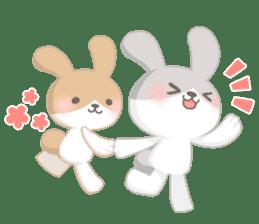Good friend rabbit. sticker #4281479