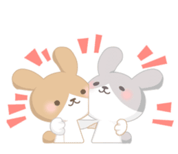 Good friend rabbit. sticker #4281480