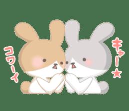 Good friend rabbit. sticker #4281481