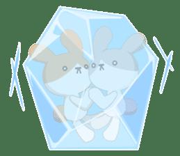 Good friend rabbit. sticker #4281483