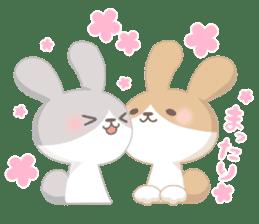 Good friend rabbit. sticker #4281484