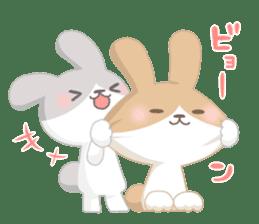Good friend rabbit. sticker #4281485