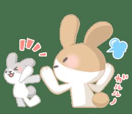 Good friend rabbit. sticker #4281486