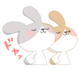 Good friend rabbit. sticker #4281487